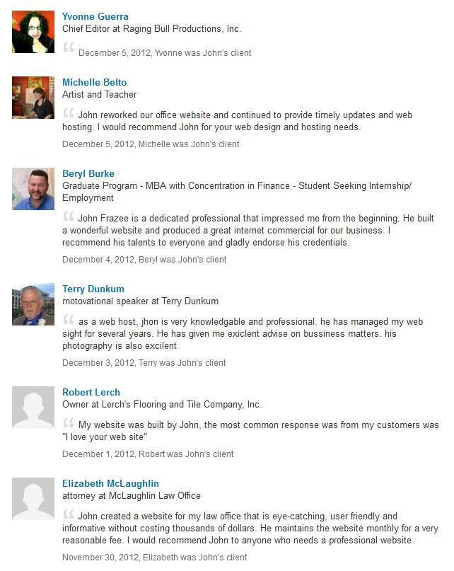john-frazee-linkedin-recommendations
